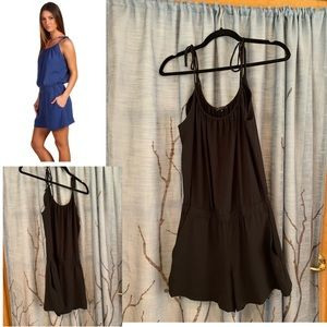Theory S Intellect Larianna Romper in black shorts
